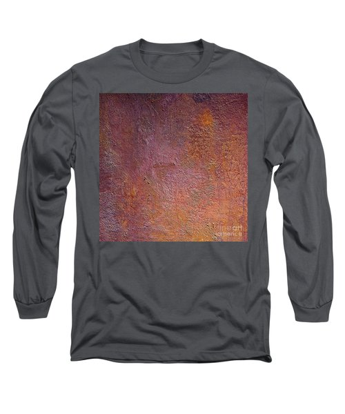 Long Sleeve T-Shirt featuring the mixed media Silver Plum by Michael Rock