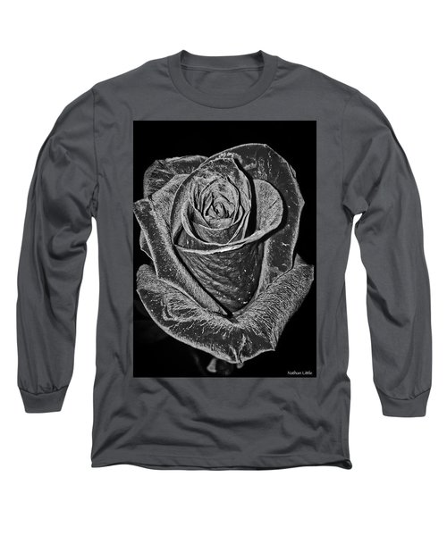 Silver Rose Long Sleeve T-Shirt