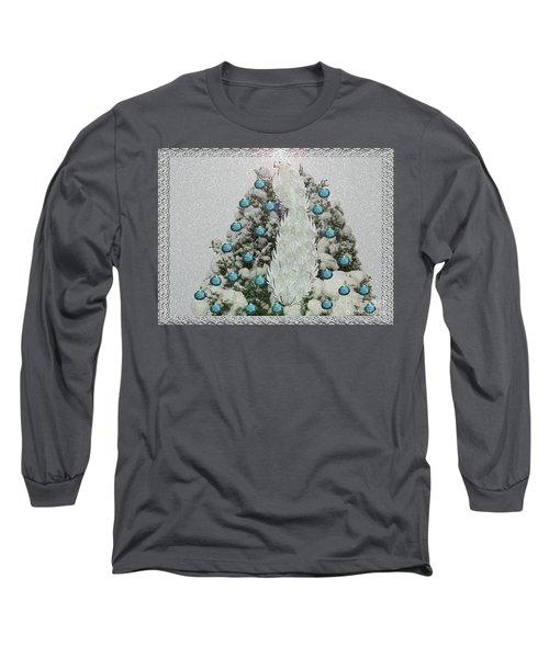 Silver Winter Bird Long Sleeve T-Shirt