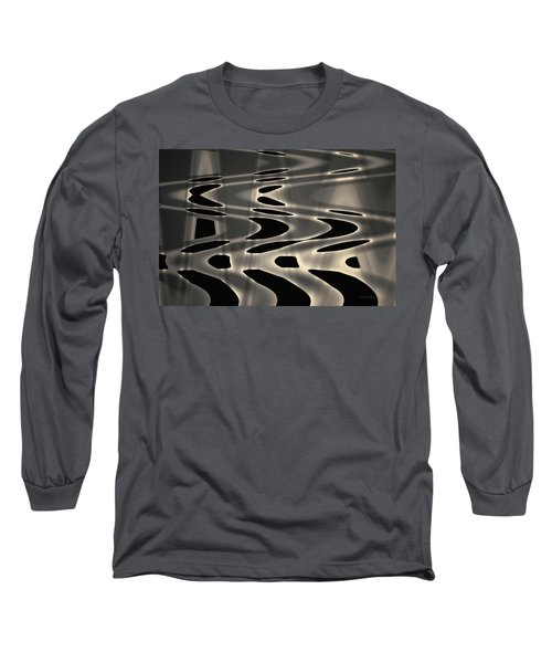 Silvery Abstraction Toned  Long Sleeve T-Shirt