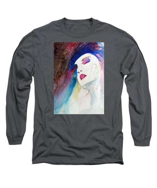 Long Sleeve T-Shirt featuring the painting Simonne by Ed Heaton