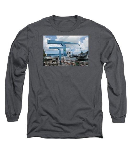 Simpson Bay Bridge St Maarten Long Sleeve T-Shirt by Christopher Kirby