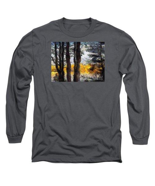 Simulated Van Gogh Scene Long Sleeve T-Shirt