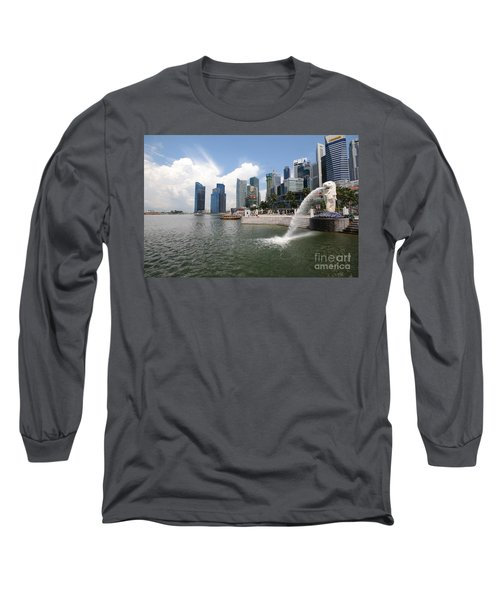 Singapore Long Sleeve T-Shirt by Charuhas Images