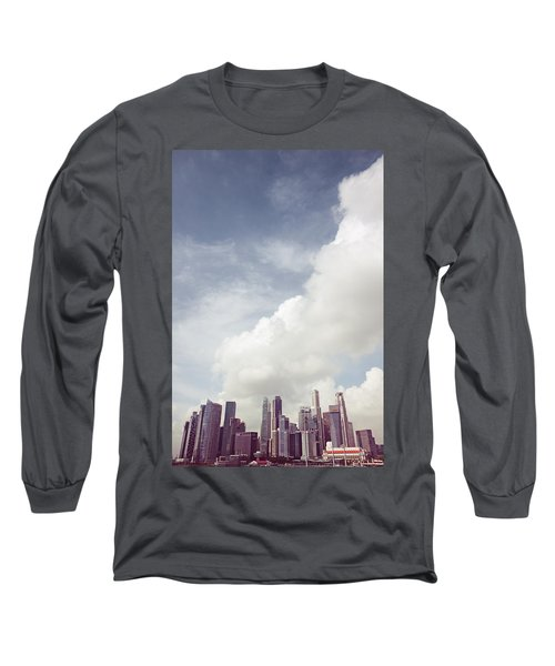 Long Sleeve T-Shirt featuring the photograph Singapore Cityscape by Joseph Westrupp