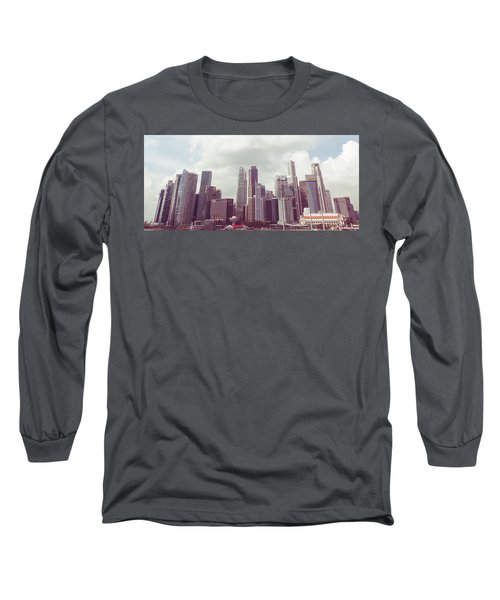 Long Sleeve T-Shirt featuring the photograph Singaport Cityscape The Second by Joseph Westrupp