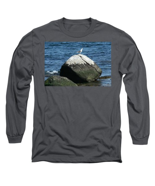 Long Sleeve T-Shirt featuring the digital art Singing Seagull by Barbara S Nickerson