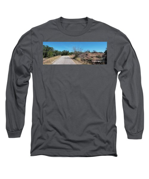 Single Lane Road In The Hill Country Long Sleeve T-Shirt