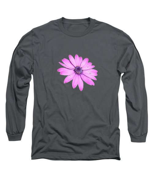 Single Pink African Daisy Long Sleeve T-Shirt
