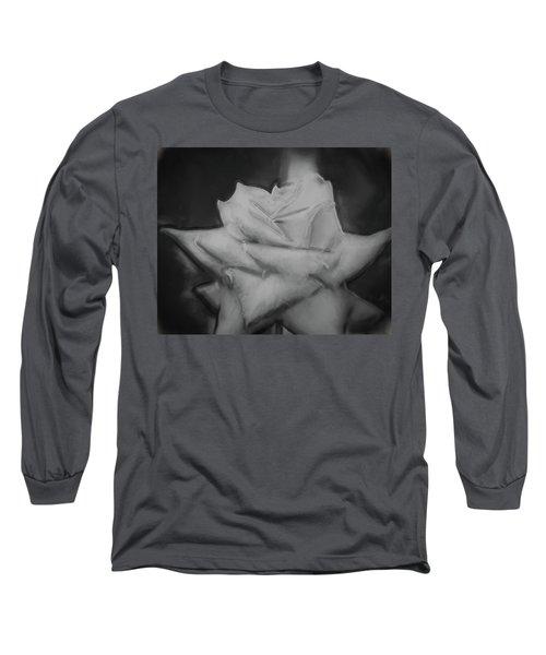 Single Rose Long Sleeve T-Shirt by Cathy Jourdan