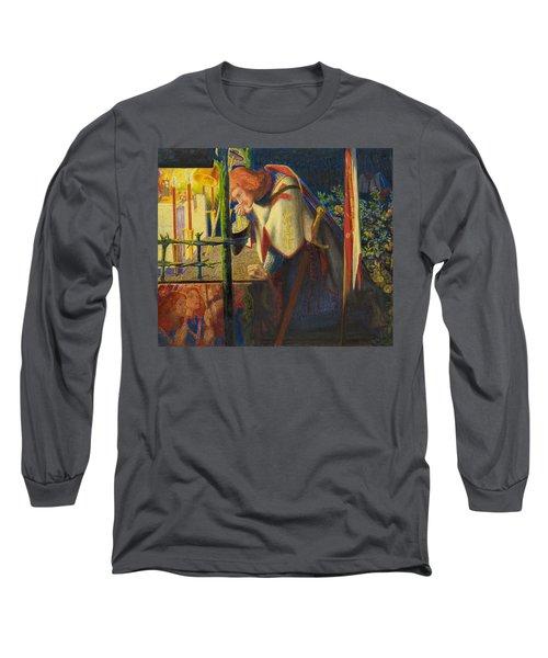 Sir Galahad At The Ruined Chapel Long Sleeve T-Shirt