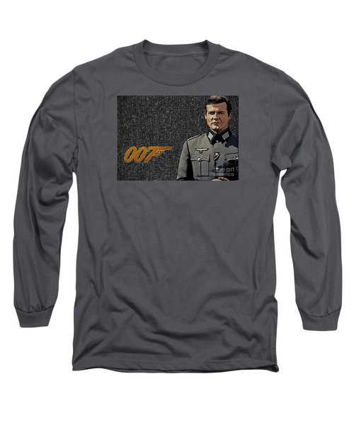 Sir Roger Moore Long Sleeve T-Shirt by Manjot Singh Sachdeva