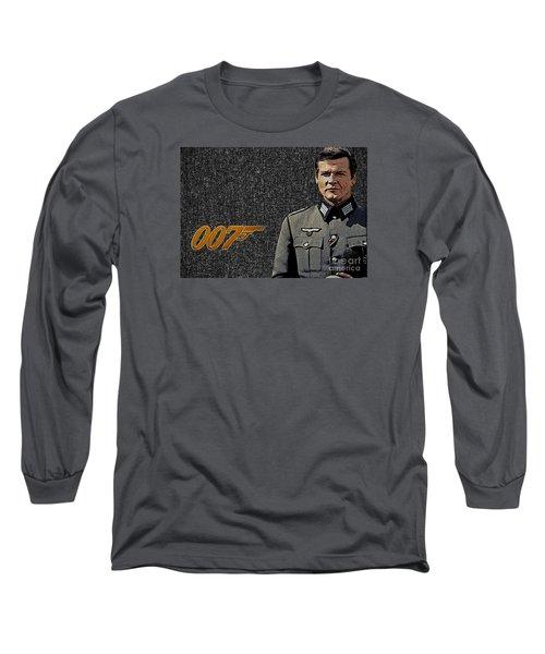 Sir Roger Moore Long Sleeve T-Shirt