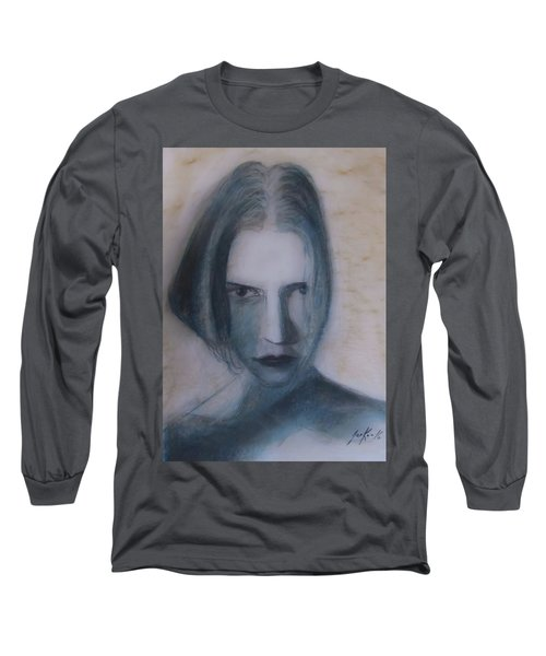 Long Sleeve T-Shirt featuring the painting Siren From The Deep by Jarko Aka Lui Grande