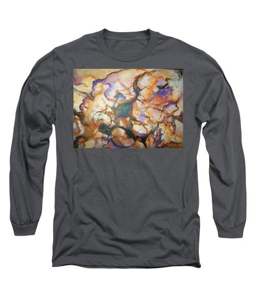 Long Sleeve T-Shirt featuring the painting Sistaz by Raymond Doward