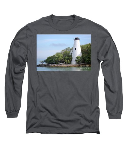 Sister Island Lighthouse Long Sleeve T-Shirt by The Art of Alice Terrill