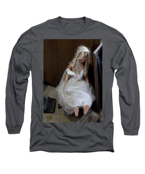 Sitting Doll Long Sleeve T-Shirt by Viktor Savchenko