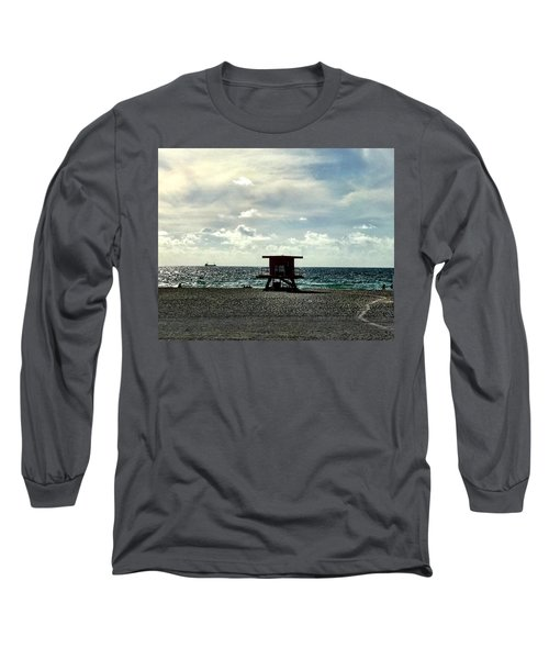 Sitting On The Beach Long Sleeve T-Shirt