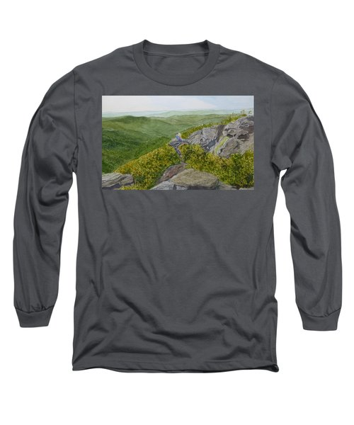 Long Sleeve T-Shirt featuring the painting Sitting Pretty  by Joel Deutsch