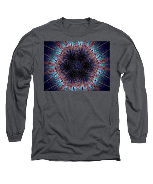 Six Petal Star Kaleidoscope Long Sleeve T-Shirt