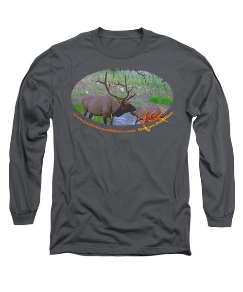 Six Point Bull Elk In Colorado Long Sleeve T-Shirt