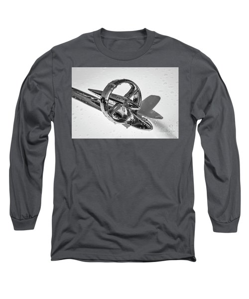 Long Sleeve T-Shirt featuring the photograph Special Hood Ornament Monotone by Dennis Hedberg