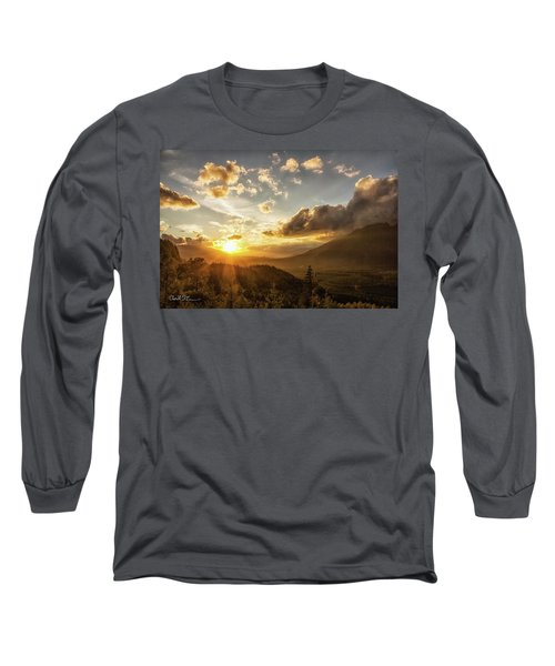 Skagit Valley Sunset Long Sleeve T-Shirt by Charlie Duncan