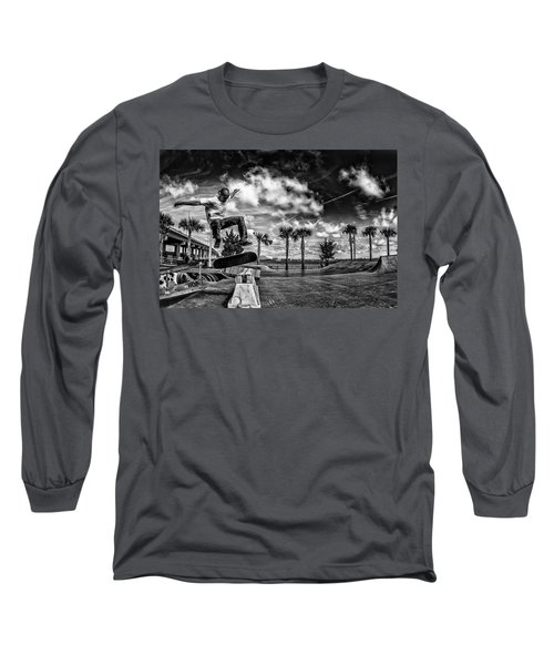 Skate Pushing The Boundries Long Sleeve T-Shirt by Kevin Cable