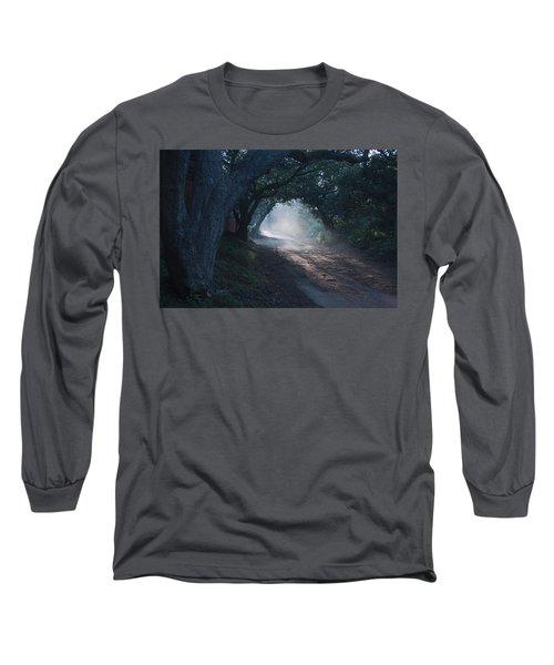 Skc 4671 Road Towards Light Long Sleeve T-Shirt by Sunil Kapadia