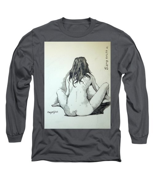 Long Sleeve T-Shirt featuring the painting Sketch For Sera.10.02 by Ray Agius