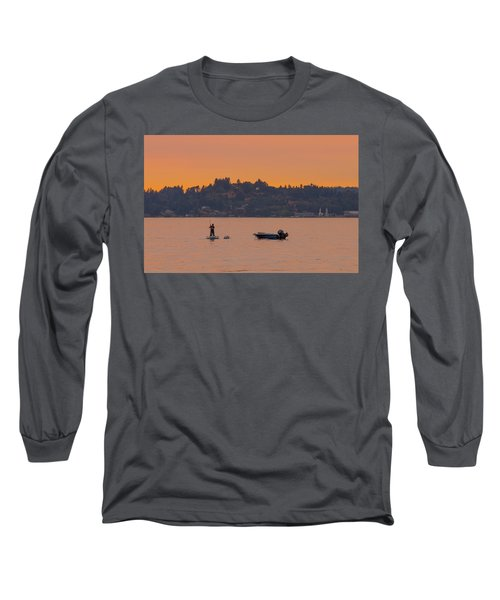 Skiff Anchored - Dinghy Ride Back To Shore Long Sleeve T-Shirt