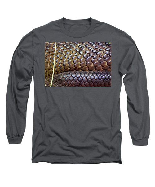 Long Sleeve T-Shirt featuring the photograph Skin Of Inland Taipan by Miroslava Jurcik