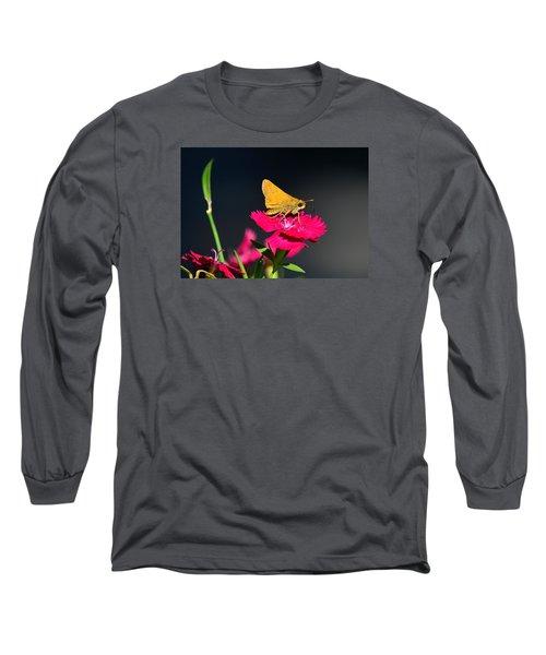 Skipper Butterfly Long Sleeve T-Shirt by Kathy Eickenberg