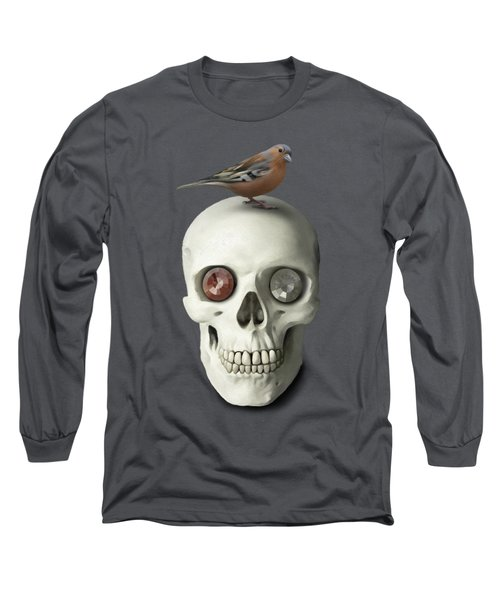 Skull And Bird Long Sleeve T-Shirt