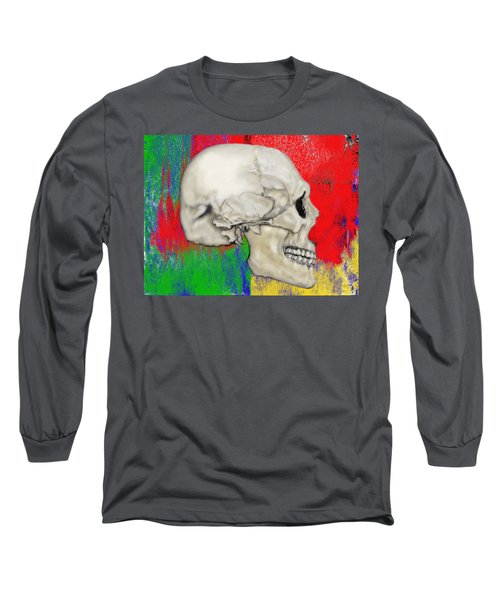 Skull In Primary Without Shape Long Sleeve T-Shirt