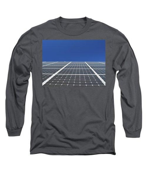 Sky Grid  Long Sleeve T-Shirt by Lyle Crump