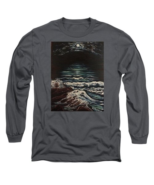 Long Sleeve T-Shirt featuring the painting Sky Lights by Cheryl Pettigrew
