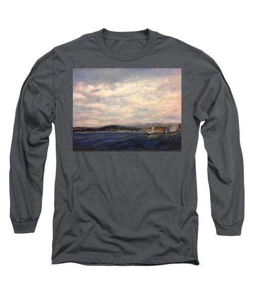 The Port Of Everett From Howarth Park Long Sleeve T-Shirt
