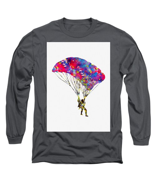 Skydiver-colorful Long Sleeve T-Shirt