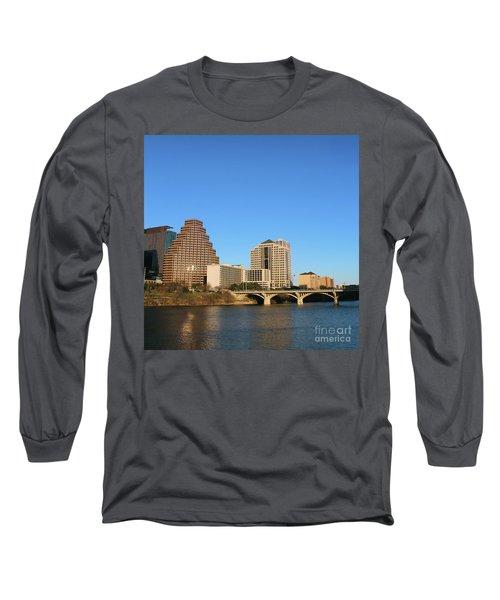 Skyline Atx Long Sleeve T-Shirt by Sebastian Mathews Szewczyk