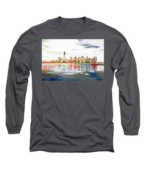 Skyline Of New York City, United States Long Sleeve T-Shirt