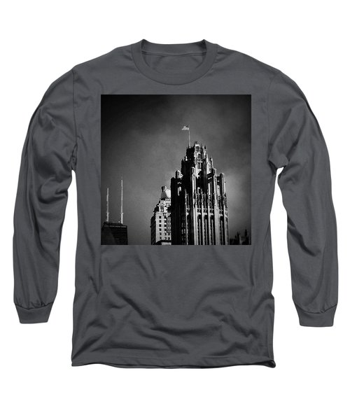 Skyscrapers Then And Now Long Sleeve T-Shirt by Frank J Casella