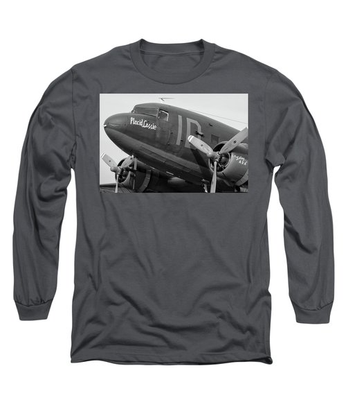 Skytrain In Black And White - 2017 Christopher Buff, Www.aviationbuff.,com Long Sleeve T-Shirt