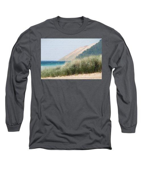 Sleeping Bear Sand Dune Long Sleeve T-Shirt by Dan Sproul