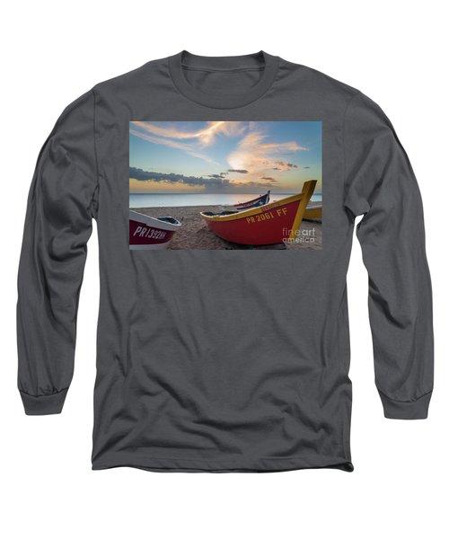 Sleeping Boats On The Beach Long Sleeve T-Shirt
