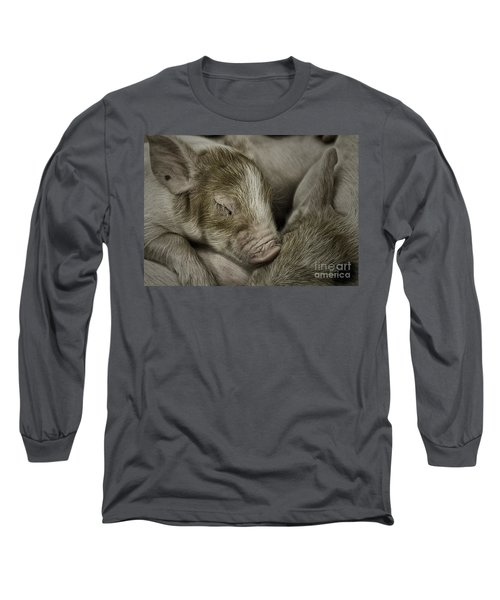 Sleeping Piglet Long Sleeve T-Shirt