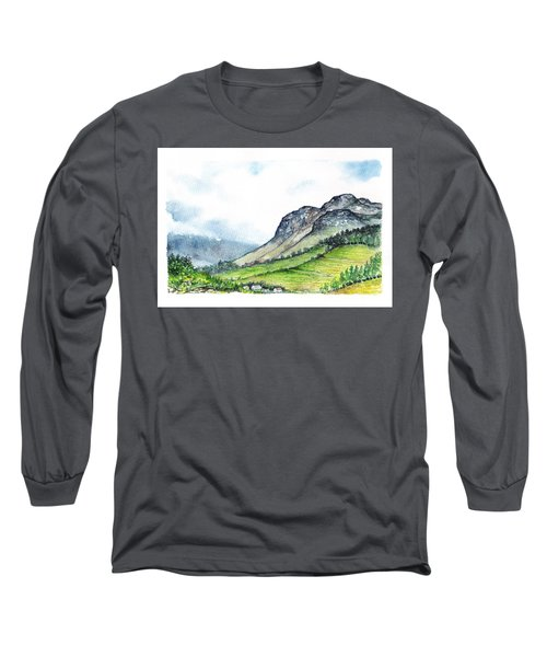 Long Sleeve T-Shirt featuring the painting Sleeping Valley by Heidi Kriel