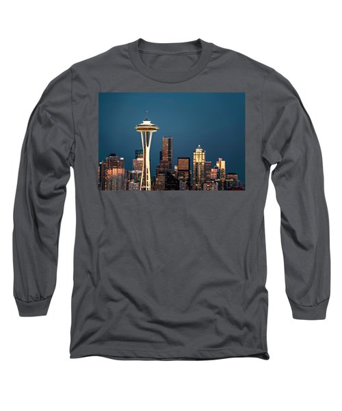 Sleepless In Seattle Long Sleeve T-Shirt by Eduard Moldoveanu