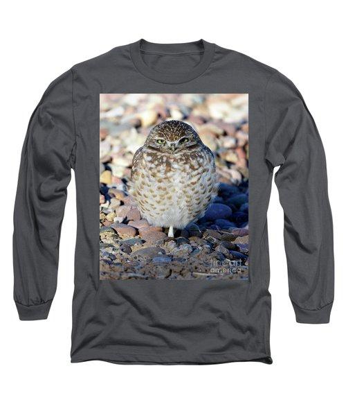Sleepy Burrowing Owl Long Sleeve T-Shirt