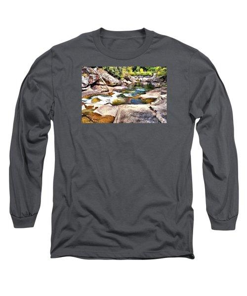 Sliding Rock Falls Long Sleeve T-Shirt by James Potts
